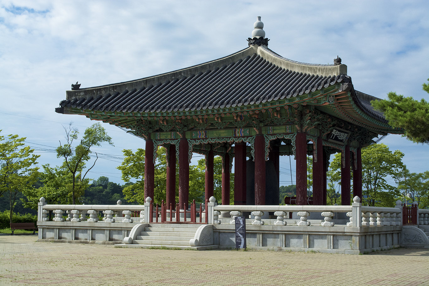 A Buddhist shrine at Imjingak just outside the Korean DMZ.(CHRISTOPHER CAMERON/THE STATESMAN)