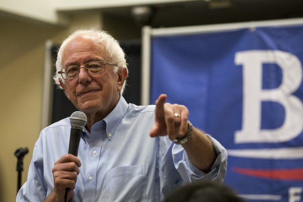 "Vermont Senator and Democratic presidential candidate Bernie Sanders has plans for debt-free college through what is called a ""Robin Hood Tax."" PHOTO CREDIT: PHIL ROEDER"
