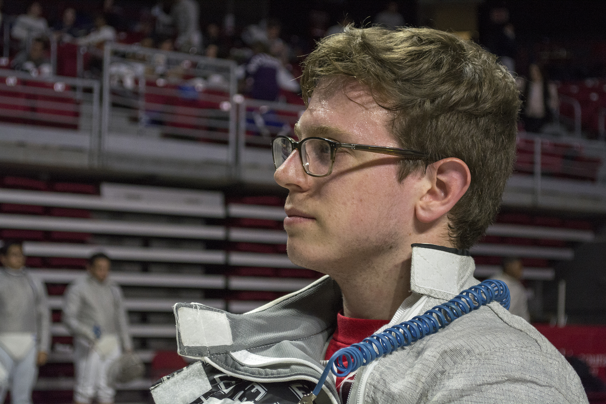 Jeremy Allen, above, serves as both a coach and competes as a senior sabre fencer for the Stony Brook Fencing club.  Allen ranked the highest out of the Stony Brook competitors with a ranking of 29th out of 72 in the Men's Sabre division. CHRISTOPHER CAMERON/THE STATESMAN