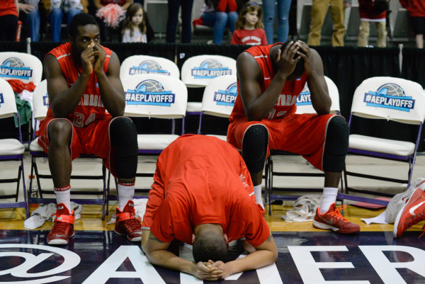 The Stony Brook Men's Basketball team lost to Albany in last season's America East Championship Game, 51-50, on March 4, 2015. This was the Seawolves' fourth America East Championship game loss in five seasons. HEATHER KHALIFA/THE STATESMAN
