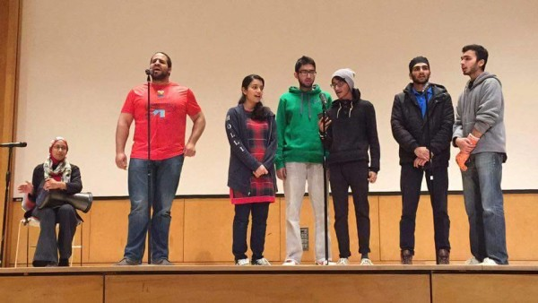 The Muslim Student Association performing during the Festival of Lights celebration on Wednesday, Dec. 2. PHOTO CREDIT MUSLIM STUDENT ASSOCIATION