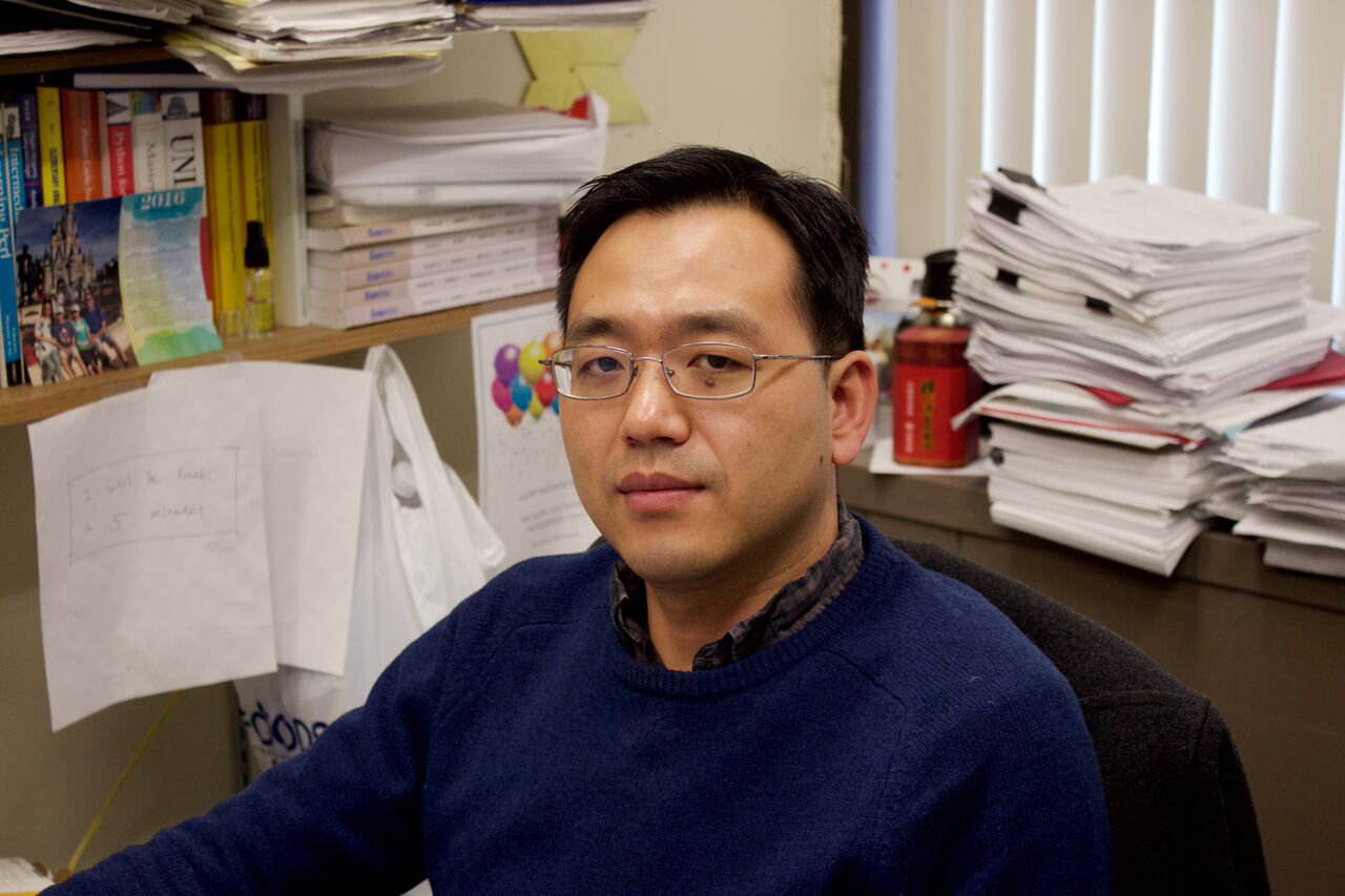 Song Wu, above, is a professor in the Department of Applied Mathematics and Statistics. He was a part of a research team that studied extrinsic risk factors that can lead to cancers. ARACELY JIMENEZ / THE STATESMAN