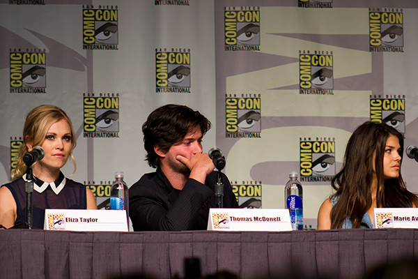From left to right actors Eliza Taylor, Thomas McDonell and Marie Avgeropoulos from the CW show, The 100. PHOTO CREDIT: RACH/FLICKR