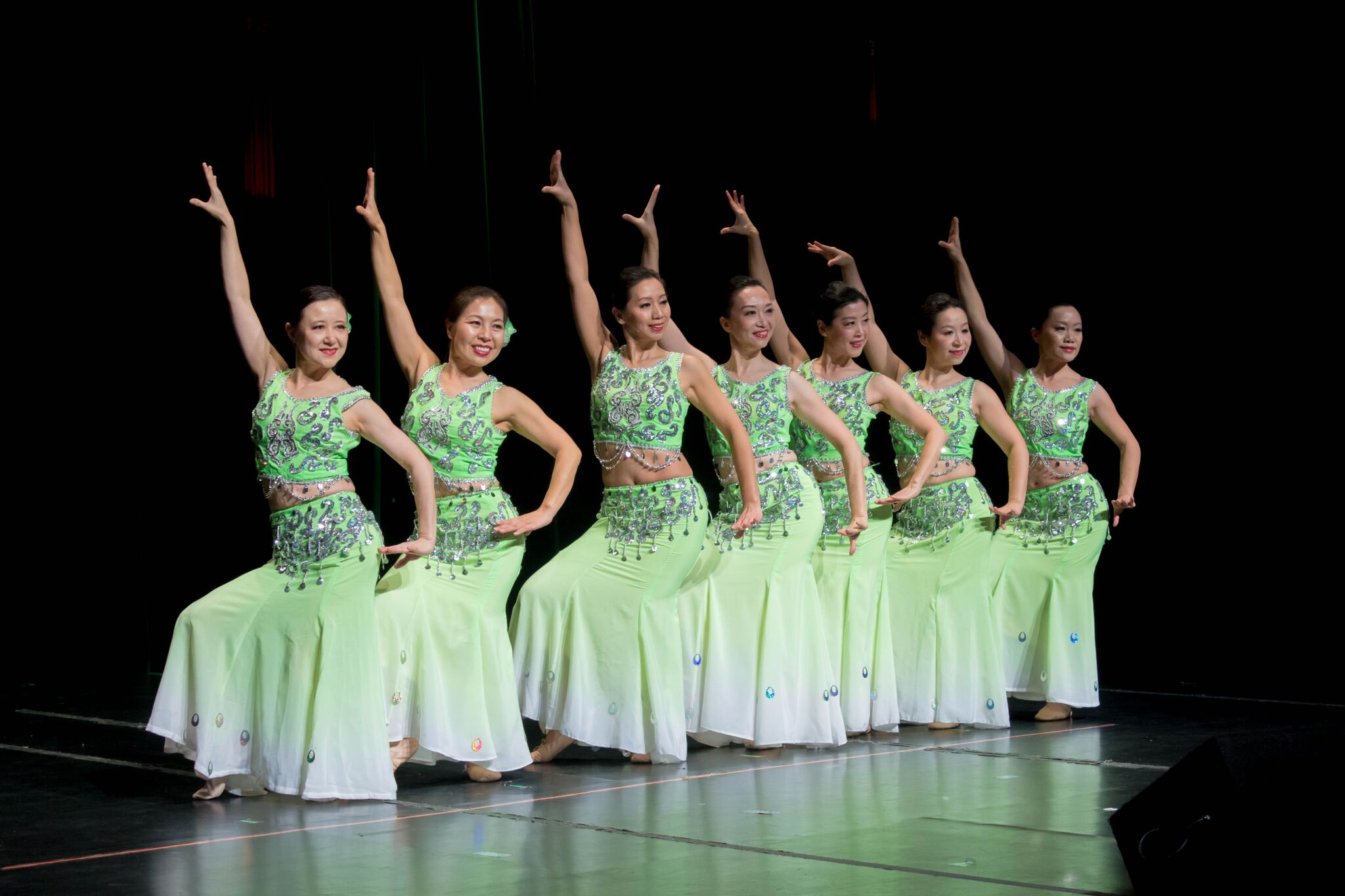 The Long Island Chinese Dance Group performed a dance to a song known as