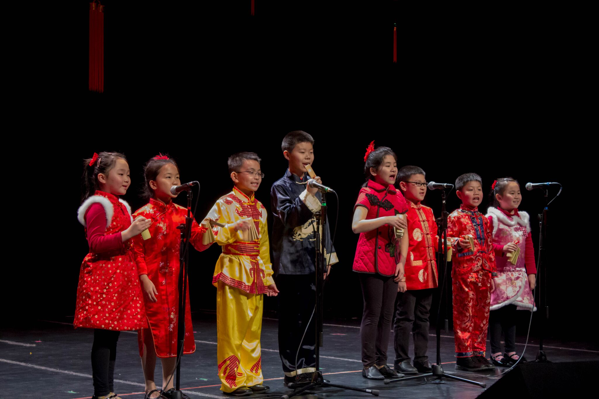 The Stony Brook Youth Group performed a traditional folk dance known as the Shu lai bao. The performance is a short, fast-rhyming talk show accompanied by bamboo clappers. MANJU SHIVACHARAN/THE STATESMAN