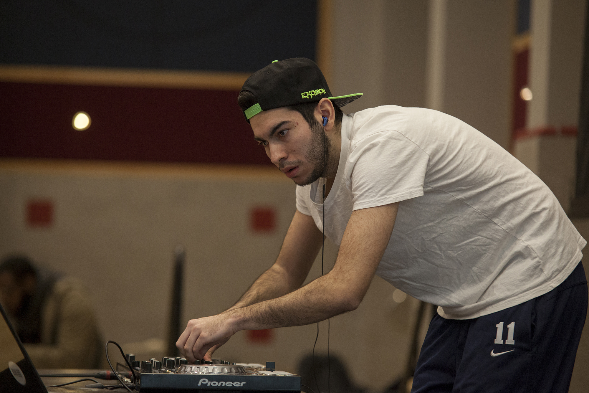 DJ Fr3or was one of the five student performers and the only DJ featured at the Brookfest Artist Release Party.   <em>ERIC SCHMID/THE STATESMAN</em>