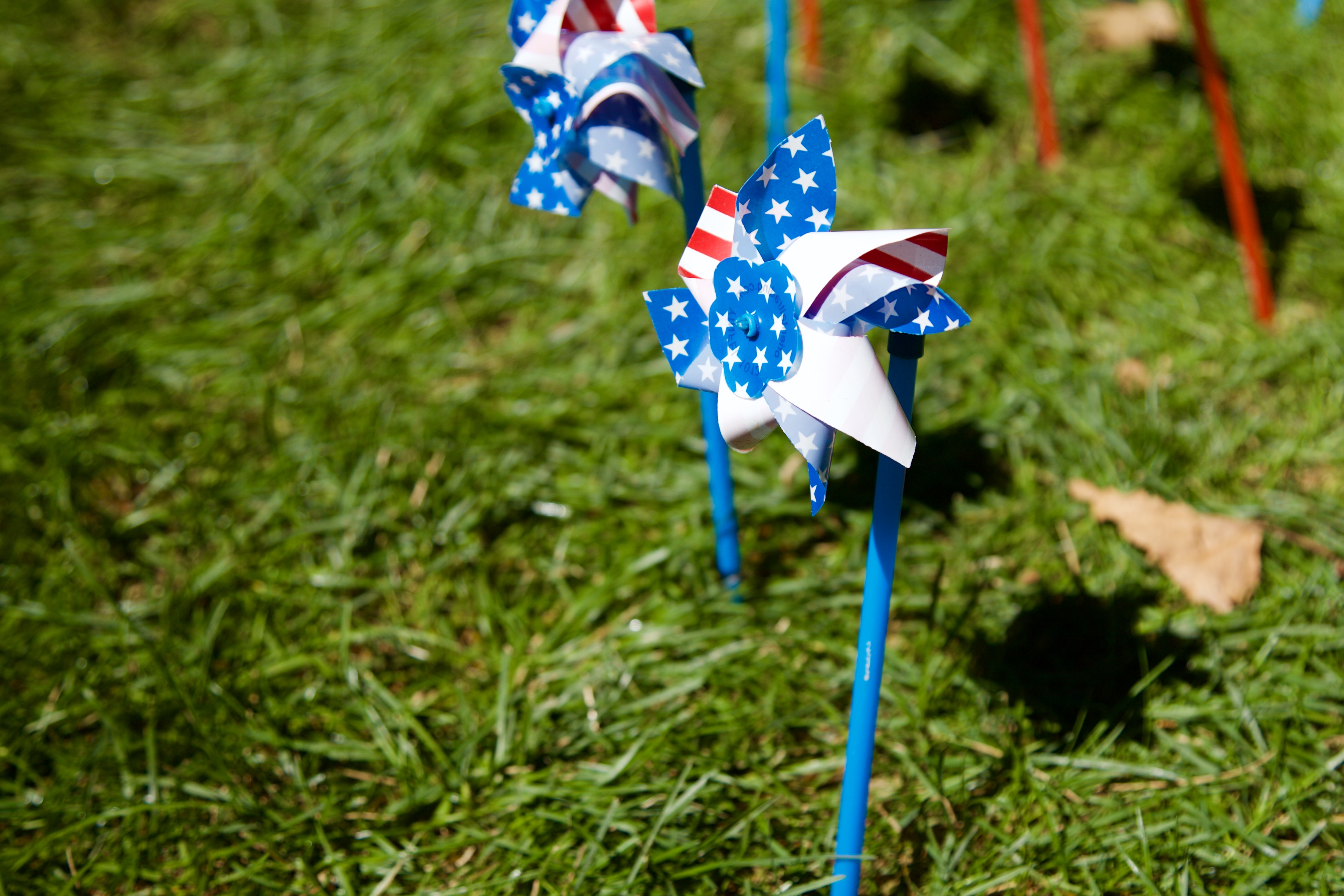 Each year, hundreds of these pinwheels are placed into the grass outside of the SAC. ARACELY JIMENEZ/THE STATESMAN