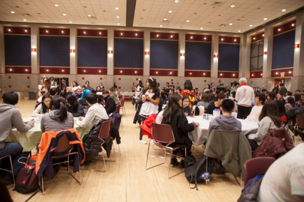 Students filled SAC Ballroom A for the Japanese Student Organization's Tokyo Cafe. The event featured ANNA CORREA/THE STATESMAN