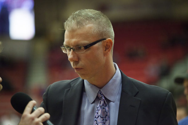 Stony Brook Men's Basketball head coach Jeff Boals... ARACELY JIMENEZ/THE STATESMAN