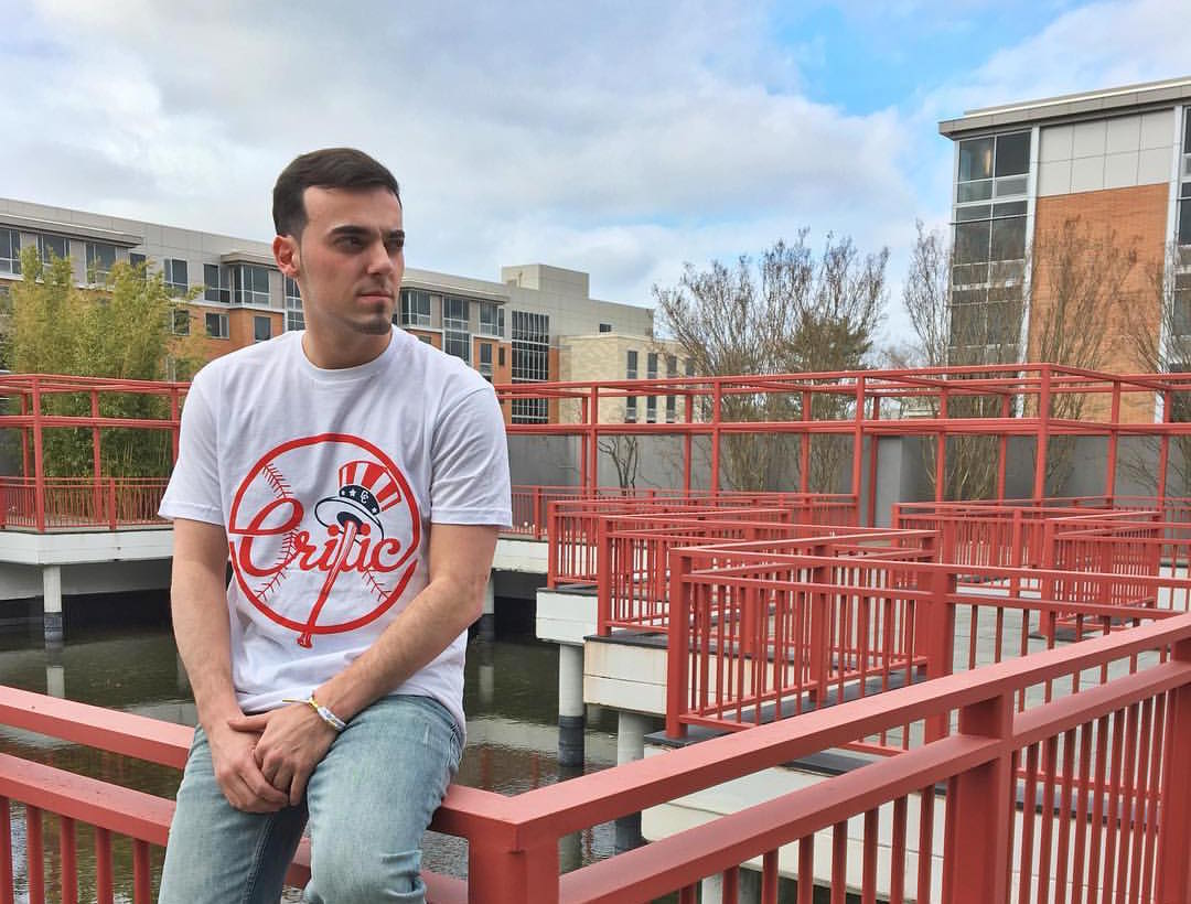 Senior business management and marketing major Alec Simione owns Critic Clothing, an up and coming clothing line speacializing in streetwear. PHOTO COURTESY OF ALEC SIMIONE