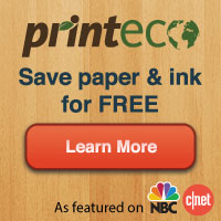 Print Eco, save paper and ink for free