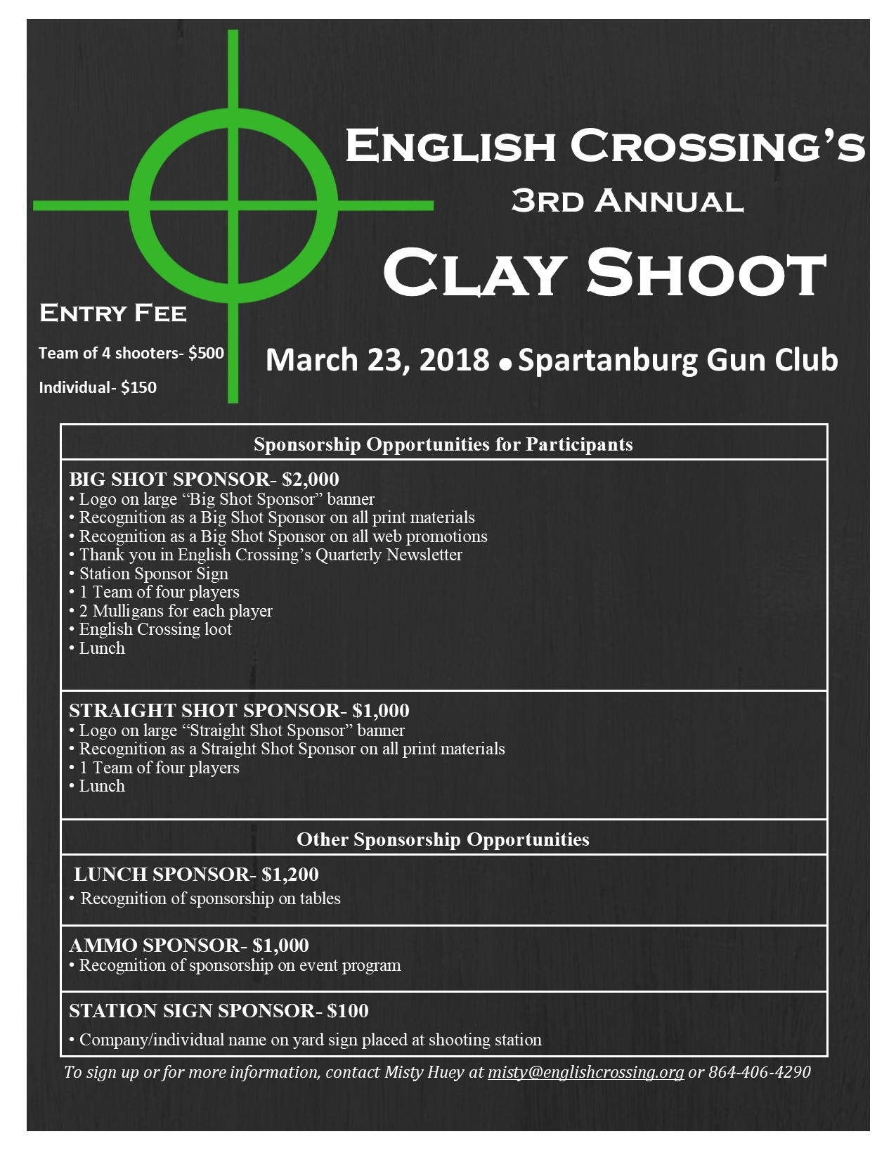 Clay shoot flyer