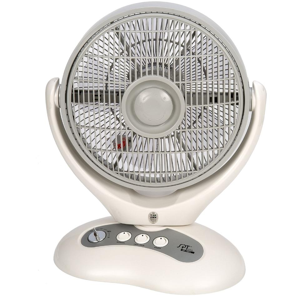 Sunpentown Box Fan With Ionizer, 9 Inch - SF-1041