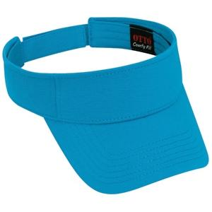 Otto Cap Comfy Cotton Jersey Knit Sun Visor - California Blue