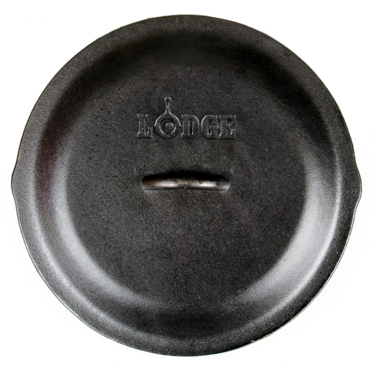 Lodge Lids 13.25 Inch Seasoned Cast Iron Dutch Oven And Skillet Lid - L12SC3