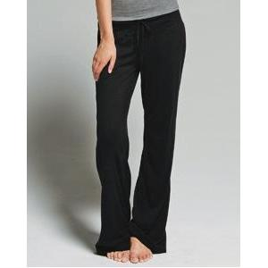 Bella Ladies Hannah Vintage Jersey Lounge Pant 2XL - Black
