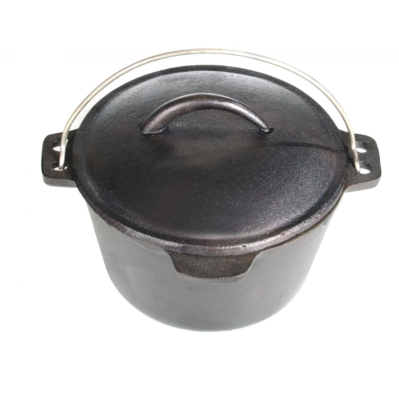 Cajun Cookware Dutch Ovens 1 Quart Seasoned Cast Iron Dutch Oven
