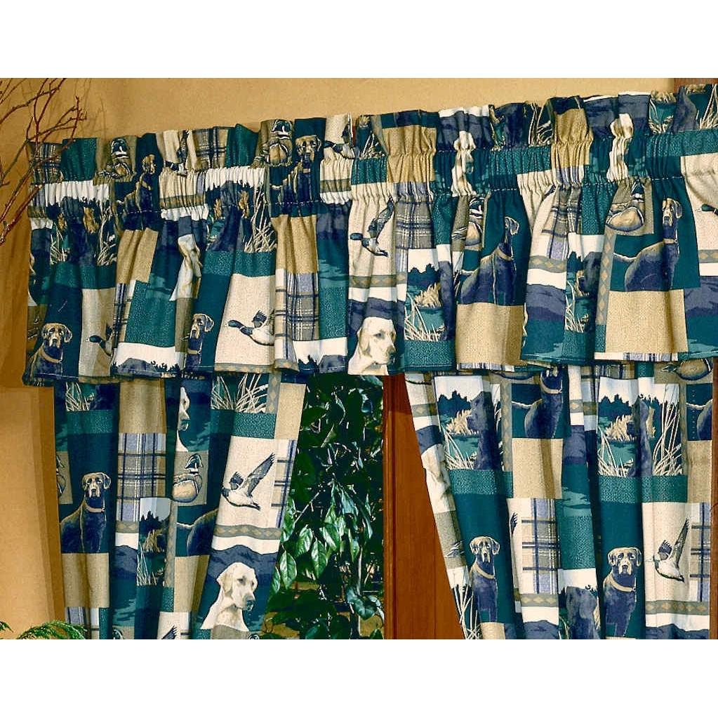 Blue Ridge Trading Window Valance - Dogs And Ducks