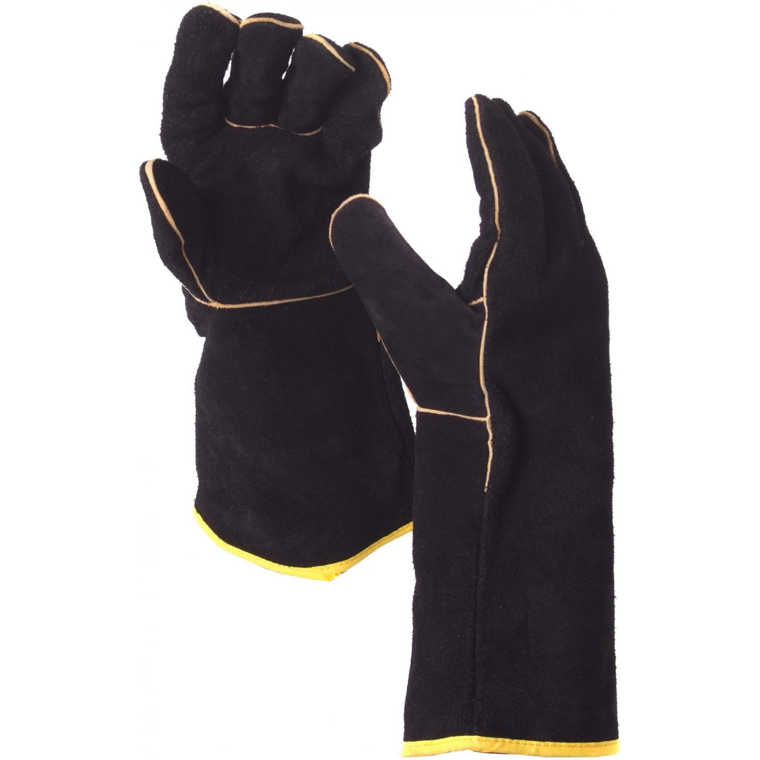 Picture of GrillPro Leather BBQ Gloves - Black