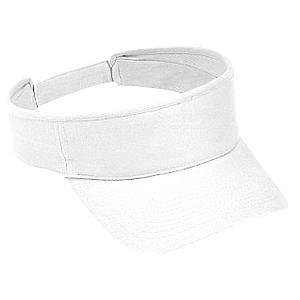Otto Cap Brushed Bull Denim Sun Visor - White