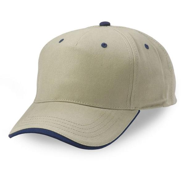 Cobra Caps Heavy Brushed Cotton Wave Sandwich Cap - Khaki/Navy