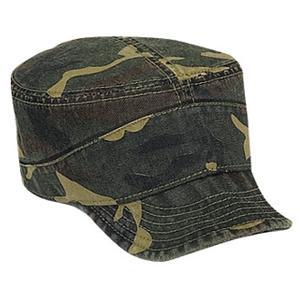 Otto Cap Camo Superior Garment Washed Cotton Twill Flexible Visor Military Style Cap - Camo Pattern 1