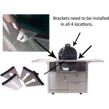 Stainless Steel Cart For Extra Large Big Green Egg Ceramic Grills BBQ Guys Stainless Steel Kamado Cart Cart Brackets