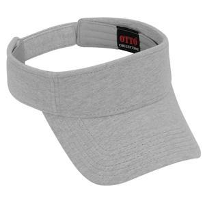 Otto Cap Comfy Cotton Pique Knit Sun Visor - Heather Gray