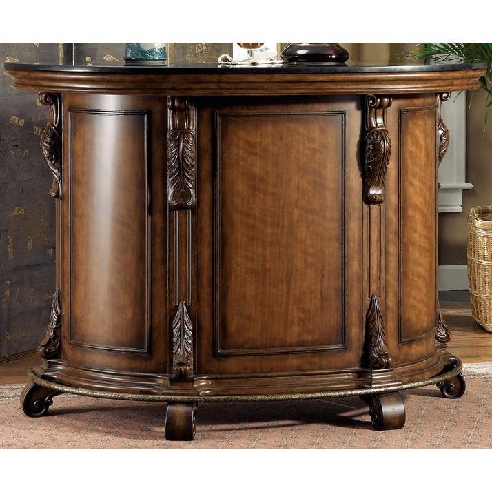 Powell Furniture - Bourbon Street Yorktown Cherry Traditional Bar With Black Granite Top (ships In Cartons) - 579-920