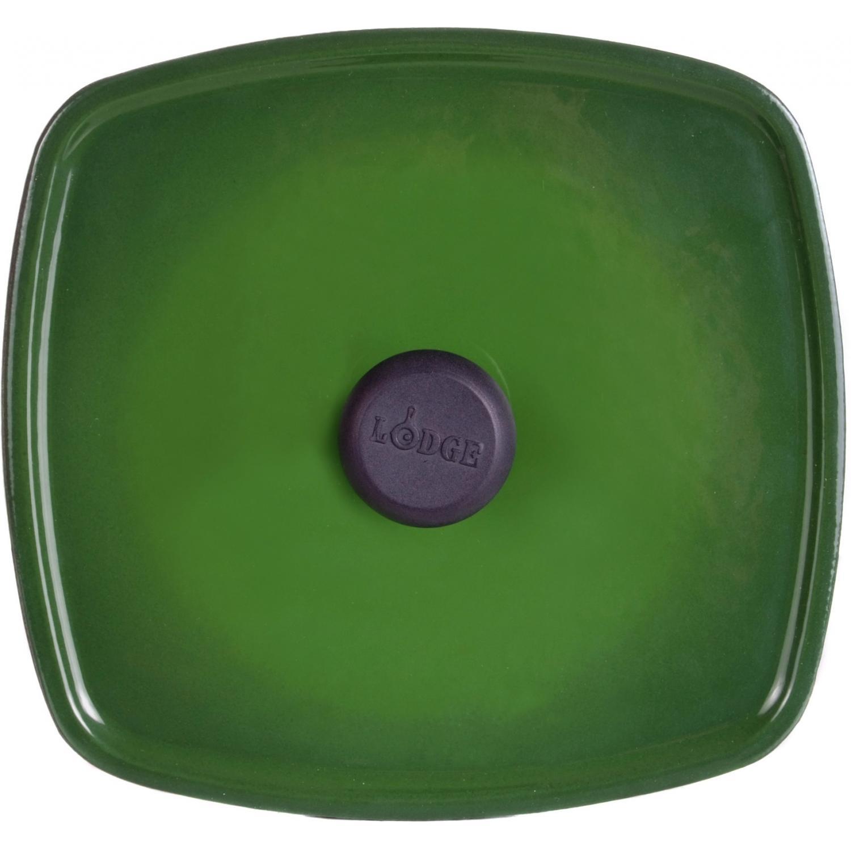 Lodge Panini Press Emerald Cast Iron Enamel Panini Press, Gradated Green - ECPP53