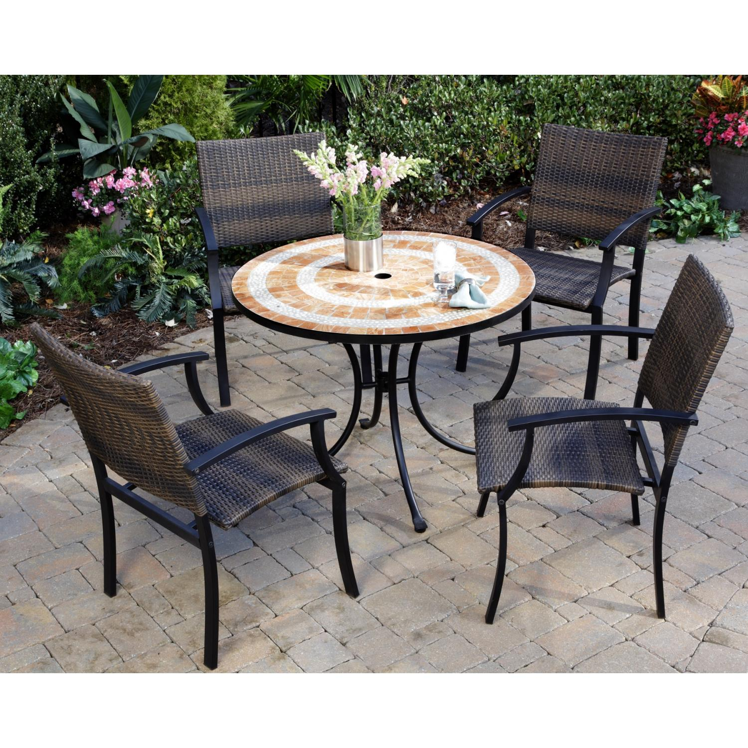 Home Styles Valencia And Newport Outdoor Patio Dining Set
