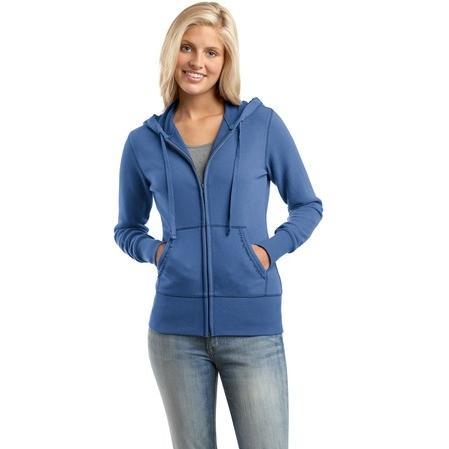 District Threads Ladies Vintage French Terry Full-Zip Hooded Sweatshirt 4XL - Maritime Blue