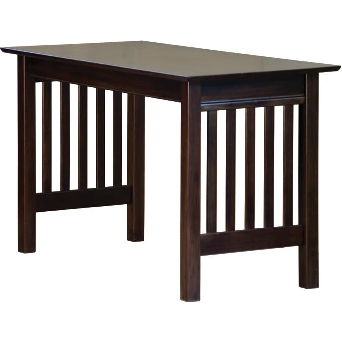 Atlantic Furniture 6041400 Mission Work Table - Antique Walnut