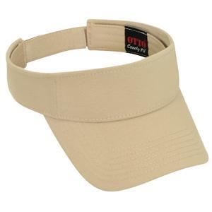 Otto Cap Comfy Cotton Jersey Knit Sun Visor - Sand
