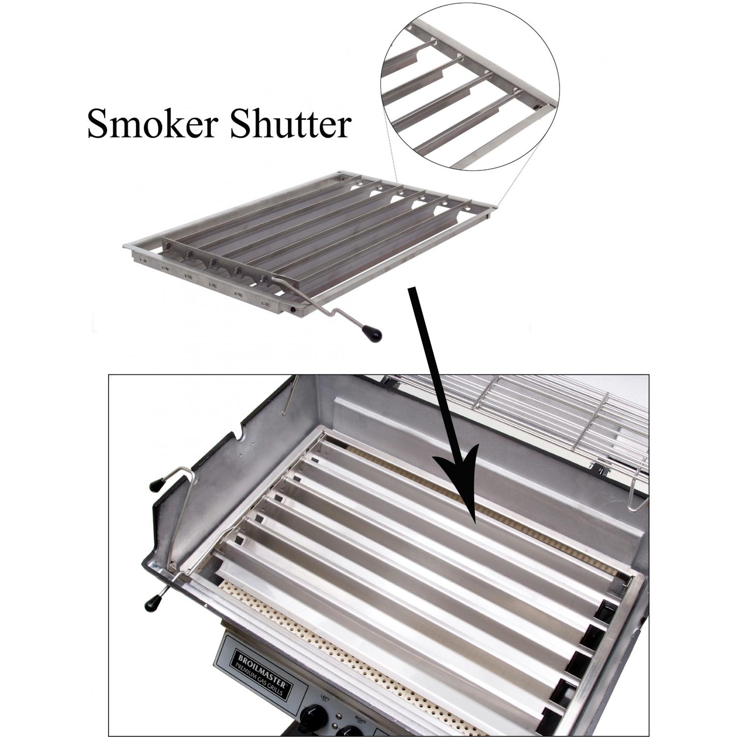 Broilmaster Smoker Shutter And Multi-Level Cooking Grid Kit For H3 Series Grills