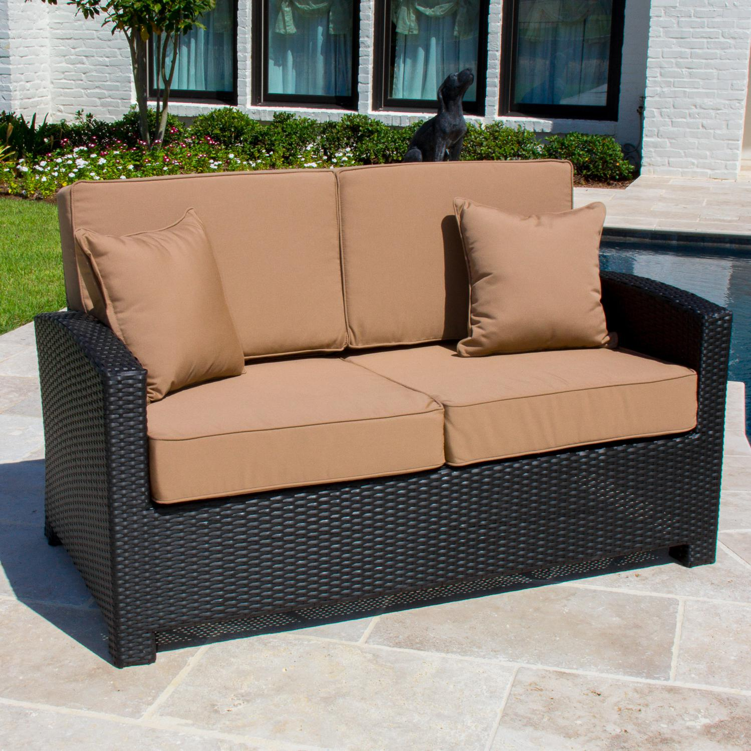 Picture of Avery Island Resin Wicker Patio High Back Loveseat By Lakeview Outdoor Designs
