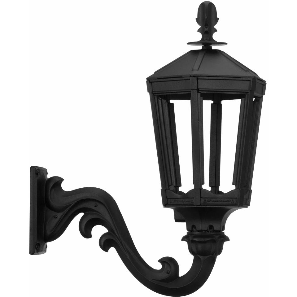 Picture of American Gas Lamp Works GL1000 Cast Aluminum Electronic Ignition Natural Gas Light With Open Flame Burner And Standard Wall Mount