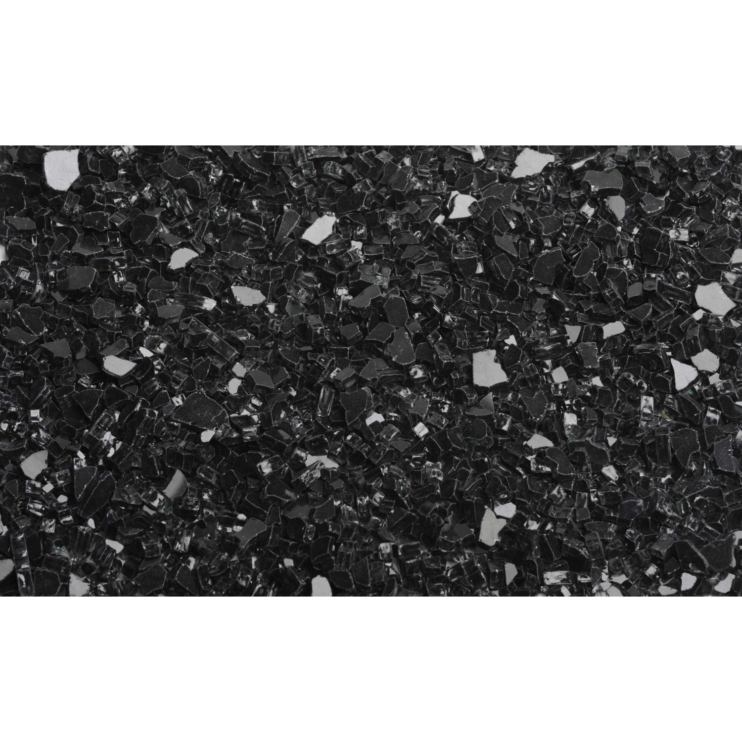 American Fireglass 1/2 Inch Black Fire Glass - 1 Lb