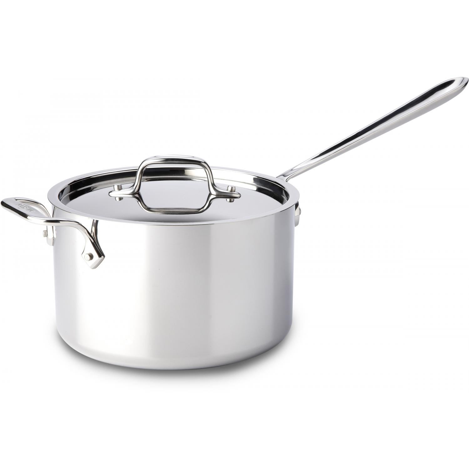 All-Clad Stainless 4-Quart Sauce Pan With Loop & Lid