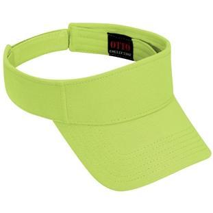 Otto Cap Comfy Cotton Pique Knit Sun Visor - Lime