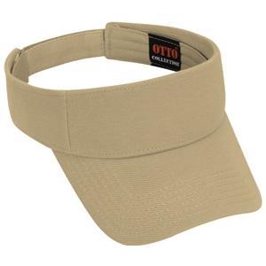 Otto Cap Comfy Cotton Pique Knit Sun Visor - Khaki