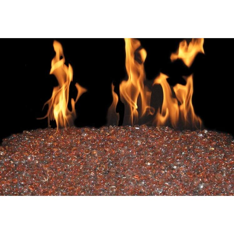 Peterson Fyre Gems 18 Inch Coral Reef Outdoor Fire Gem Set With Vented Propane Stainless G45 Burner - Manual Safety Pilot