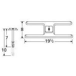 Stainless Steel H Single Burner 10201-70401