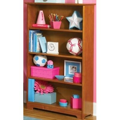 Atlantic Furniture 69307 Windsor Book Shelf 55 Inch Caramel Latte