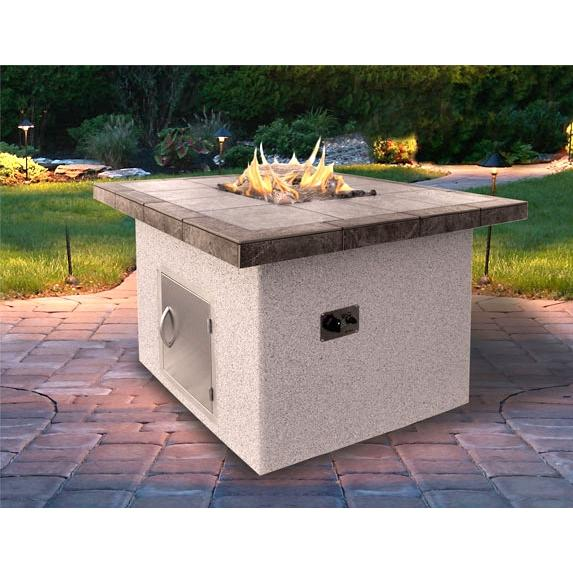 Cal Flame 48 X 35 Inch Outdoor Natural Gas Square Firepit