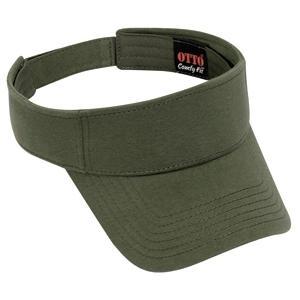 Otto Cap Comfy Cotton Jersey Knit Sun Visor - Military Green