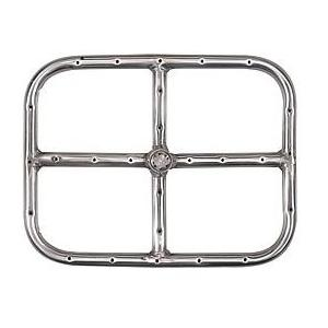 12 X 9 Inch Stainless Rectangular Single Propane Fire Pit Ring