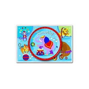 Olive Kids Personalized Meal Time Plate Set - Big Top
