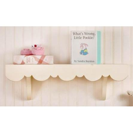 New Arrivals Scalloped Cottage Wall Shelf - Antique White
