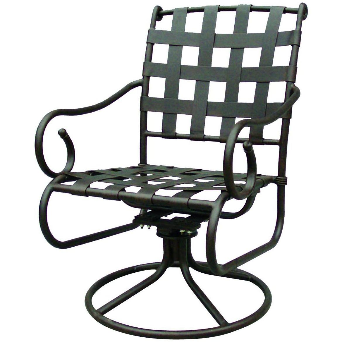 Darlee Malibu Aluminum Outdoor Patio Swivel Rocker Chair With Cushions - Antique Bronze